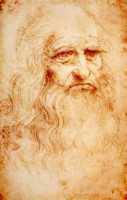 Leonardo self portrait