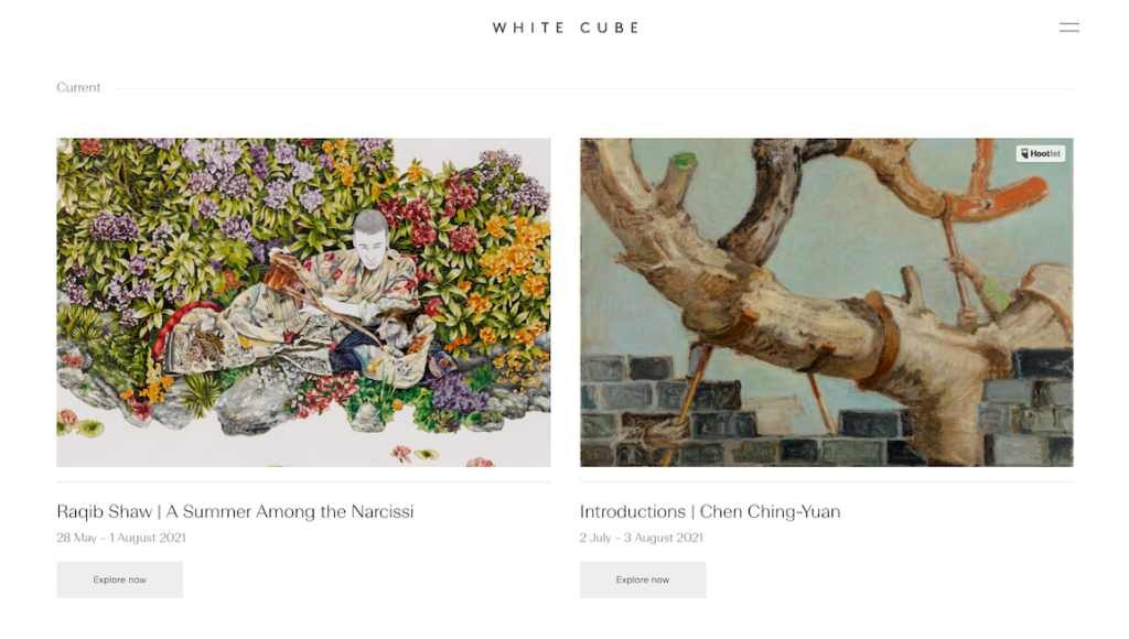 White Cube Online Exhibitions