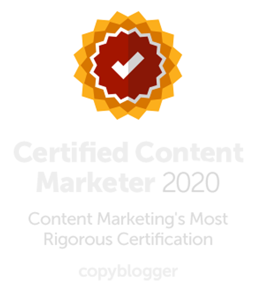 Certified Content Marketer badge