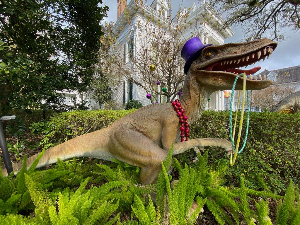Mardi Gras dinosaur